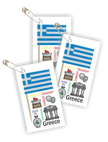 Greece Thinking Day Toothpick Flag SWAPs