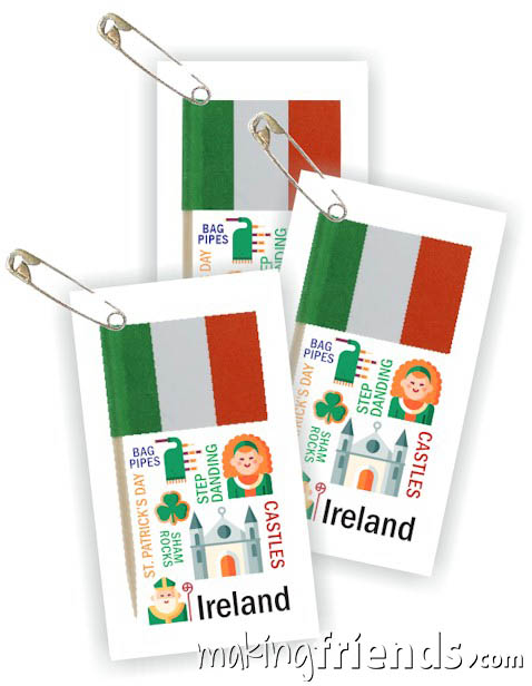 Girl Scout Thinking Day Toothpick Flag SWAP Ireland via @gsleader411