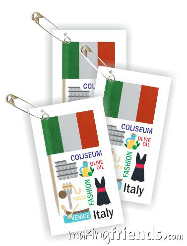 Italy Toothpick Flag Friendship Swap Kit. If you chose Italy for your World Thinking Day* or International event, these crafts for swapping are quick and easy. Kit makes 100. You'll find more fun ideas on our page Italy | Ideas for Thinking Day* including patches, crafts, passports and more.  via @gsleader411
