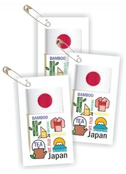 Japan Thinking Day Toothpick Flag SWAPs