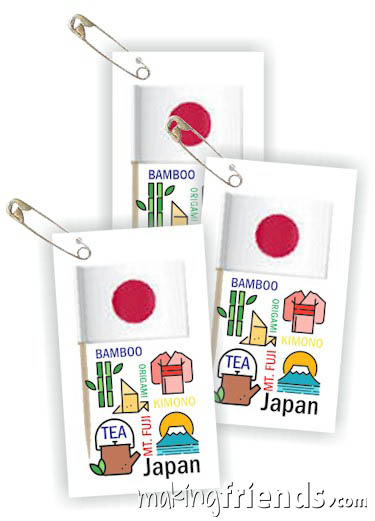 Girl Scout Thinking Day Toothpick Flag SWAP Japan via @gsleader411