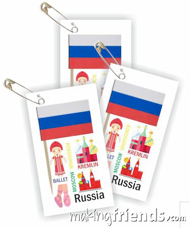 Girl Scout Thinking Day Toothpick Flag SWAP Russia via @gsleader411