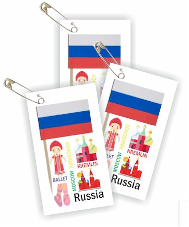 Russia Thinking Day Toothpick Flag SWAPs
