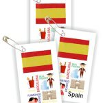 Spain Thinking Day Toothpick Flag SWAPs