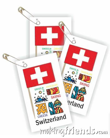 Girl Scout Thinking Day Toothpick Flag SWAP Switzerland via @gsleader411