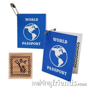 USA Girl Scout Mini Passport SWAP Kit via @gsleader411