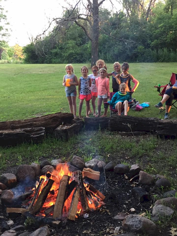 Brownie Girl Scout Campfire