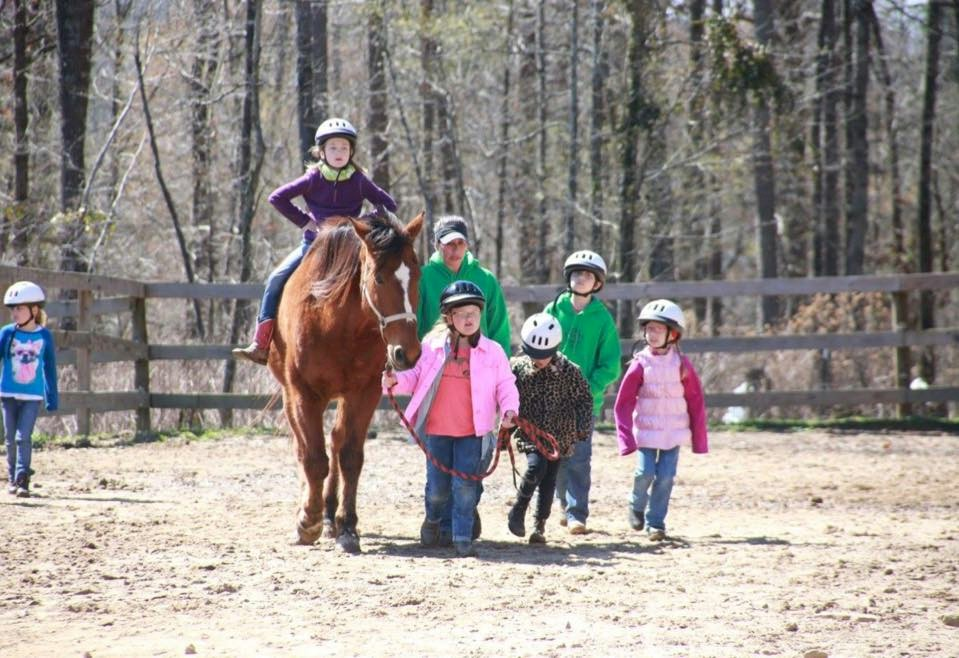 Brownie Girl Scouts Horseback Riding