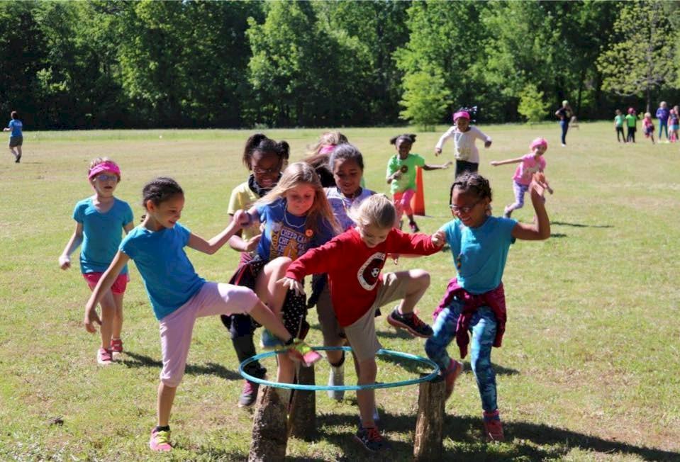 Brownie Girl Scout Troop Teamwork.