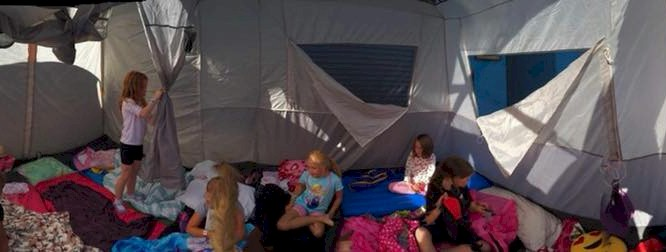 Brownie Girl Scouts Tent Camping