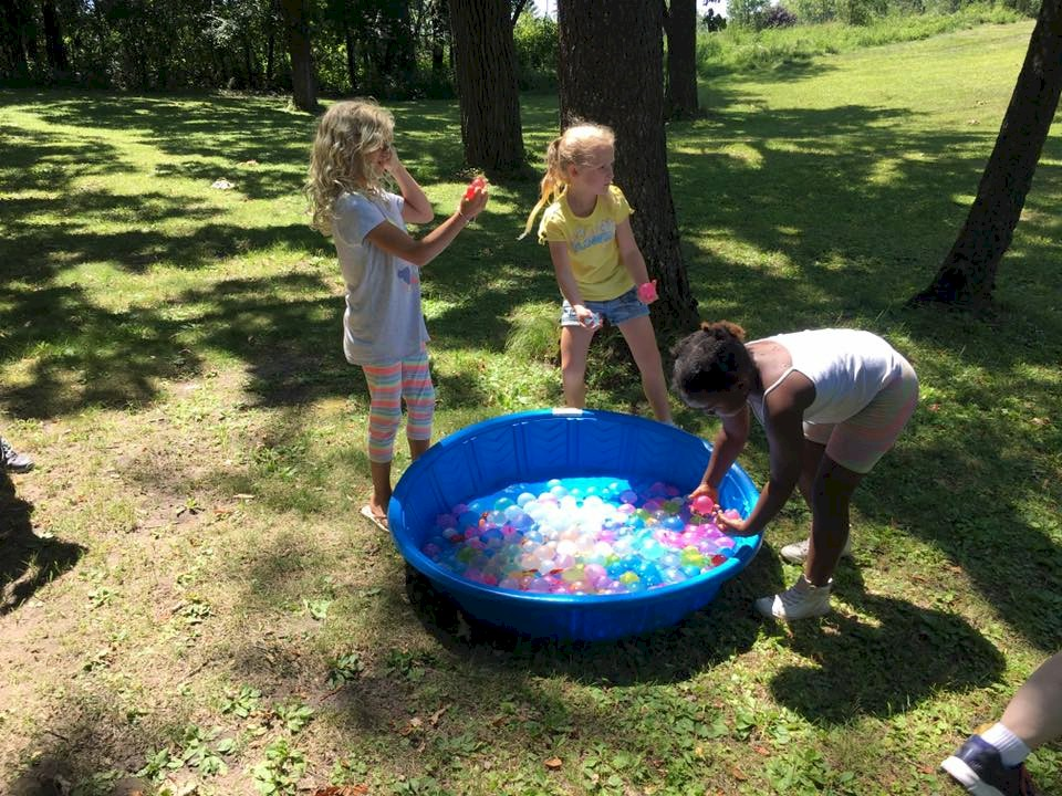 Girl Scout Brownie Water Balloon Fight