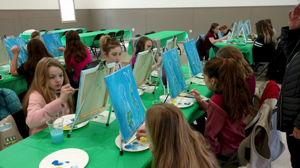 Cadette Girl Scouts Paint Party