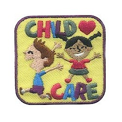 Girl Scout Child Card Fun Patch