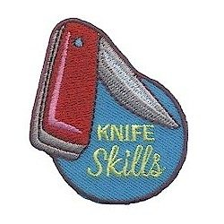 Girl Scout Knife Skills Fun Patch
