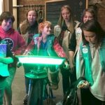 Girl Scouts attending a STEM event.