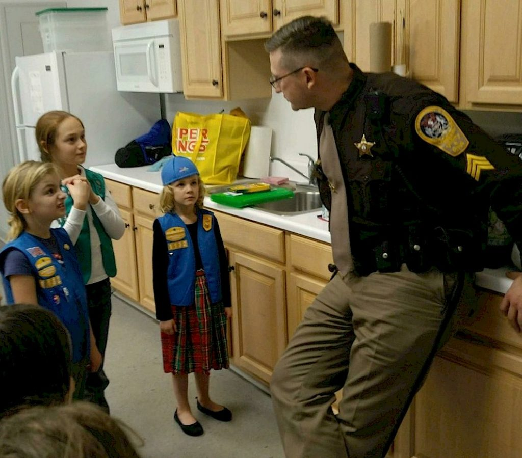 Girl Scout learn about bullying.
