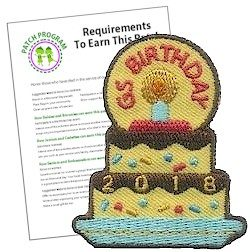2018 Girl Scout Birthday Patch Program