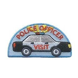 Girl Scout Police Officer Visit Fun Patch