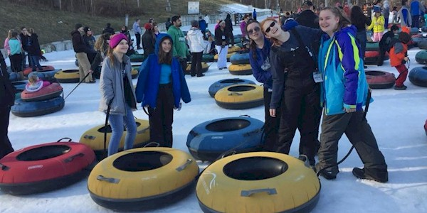 Senior Girl Scouts Tubing