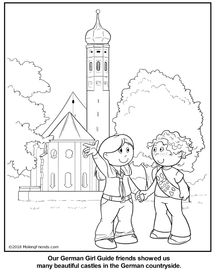 bavarian coloring pages - photo#36