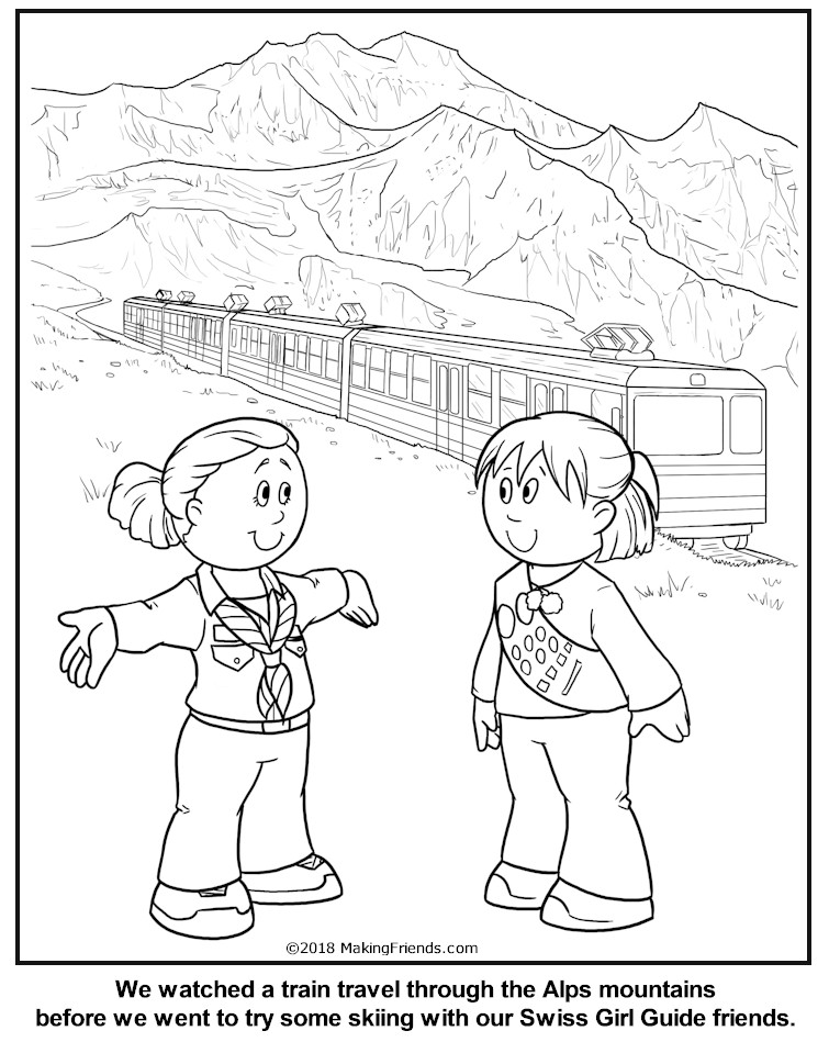 swiss scenes coloring pages - photo#19