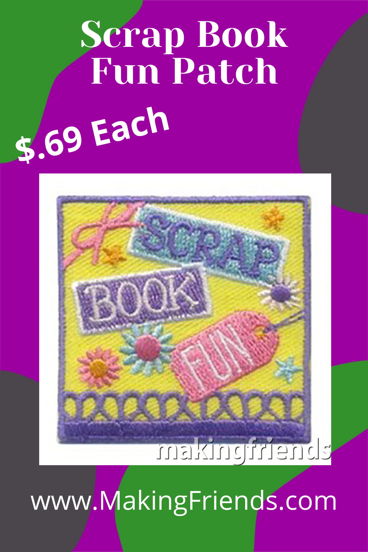 Your girls will have a great time creating scrapbooks to remember the fun times with their troop or other special occasions! #makingfriends #scrapbook #funpatch #scrapbooking #scrapbookpatch #girlscouts #gsfunpatch #funtimes via @gsleader411