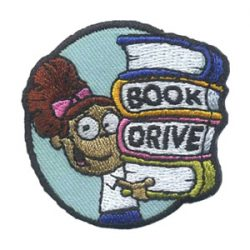 Girl Scout Book Drive Fun Patch