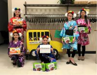 Cadette Troop 15006 of High Point NC chose Hong Kong as their country, performed an umbrella dance and donated items to the host church's after school program as part of the Take Action part of the WTD award. The girls earned Hong Kong Thinking Day patches.