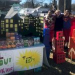 Girl Scout Cadettes Supehero Cookie Booth