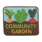 Girl Scout Community Garden Fun Patch