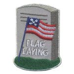 Girl Scout Flag Laying Patch