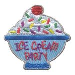 Girl Scout Ice Cream Party Patch
