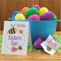 Try something new this year at your egg hunt with Kindness Eggs.