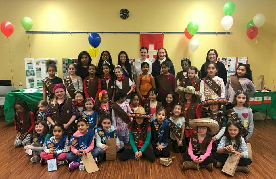 Girl Scout Thinking Day event.