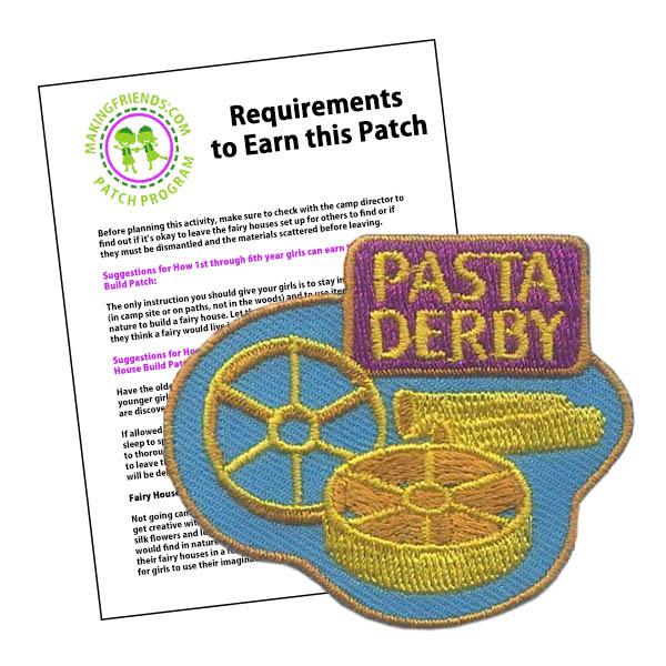 Girl Scout Pasta Derby Patch Program