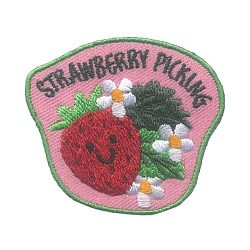 Girl Scout Strawberry Picking Fun Patch