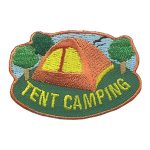 Girl Scout Tent Camping Patch