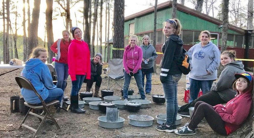 Girl Scouts Dutch Oven Cooking.