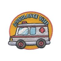Scout Ambulance Visit fun patch for Emergency Medical Services Week 2018