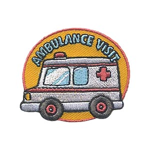 Girl Scouts Ambulance Visit Patch