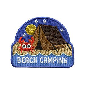 Girl Scouts Beach Camping Patch