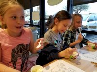 Earn an ice cream party patch. Brownie troop 9095 celebrated Girl Scout week with an ice cream party.