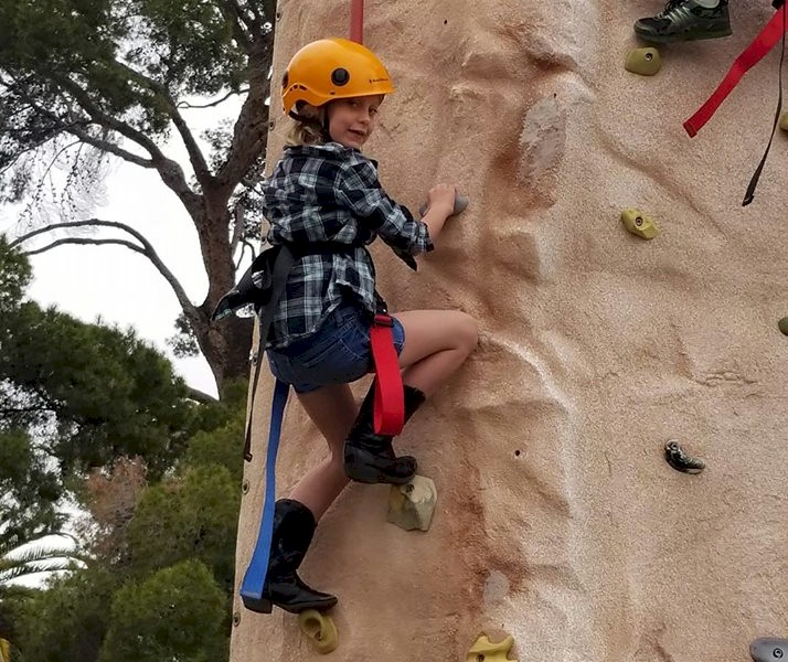 Brownie Girl Scout Rock Climbing