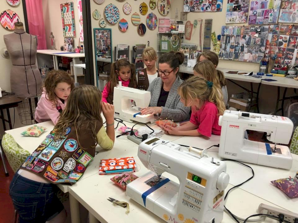 Brownie Girl Scout Sewing