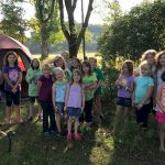 Brownie Girl Scouts Backyard Camping