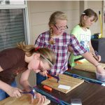 Cadette Girl Scouts Wood Working
