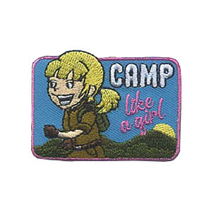 Girl Scout Camp Like a Girl Patch