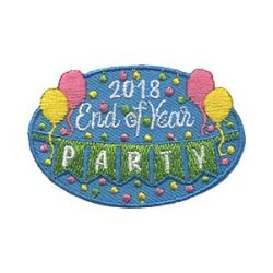 Girl Scouts End of Year Party 2018 Patch