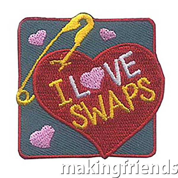 I Love SWAPs* Patch (Heart) LIMITED SUPPLY! Don't miss your chance to share these adorable patches with your scouts. New to SWAPs* or need inspiration? Take a look at our page SWAPs: Share With A Pal. Whether you have one event dedicated to making and trading crafts or include time at a service unit or council event for girls to trade, your girls will have so much fun trading these cute keepsakes and meeting new girls. $.69 each Free Shipping Available #makingfriends #friendshipswaps via @gsleader411