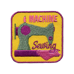 Girl Scout Machine Sewing Patch